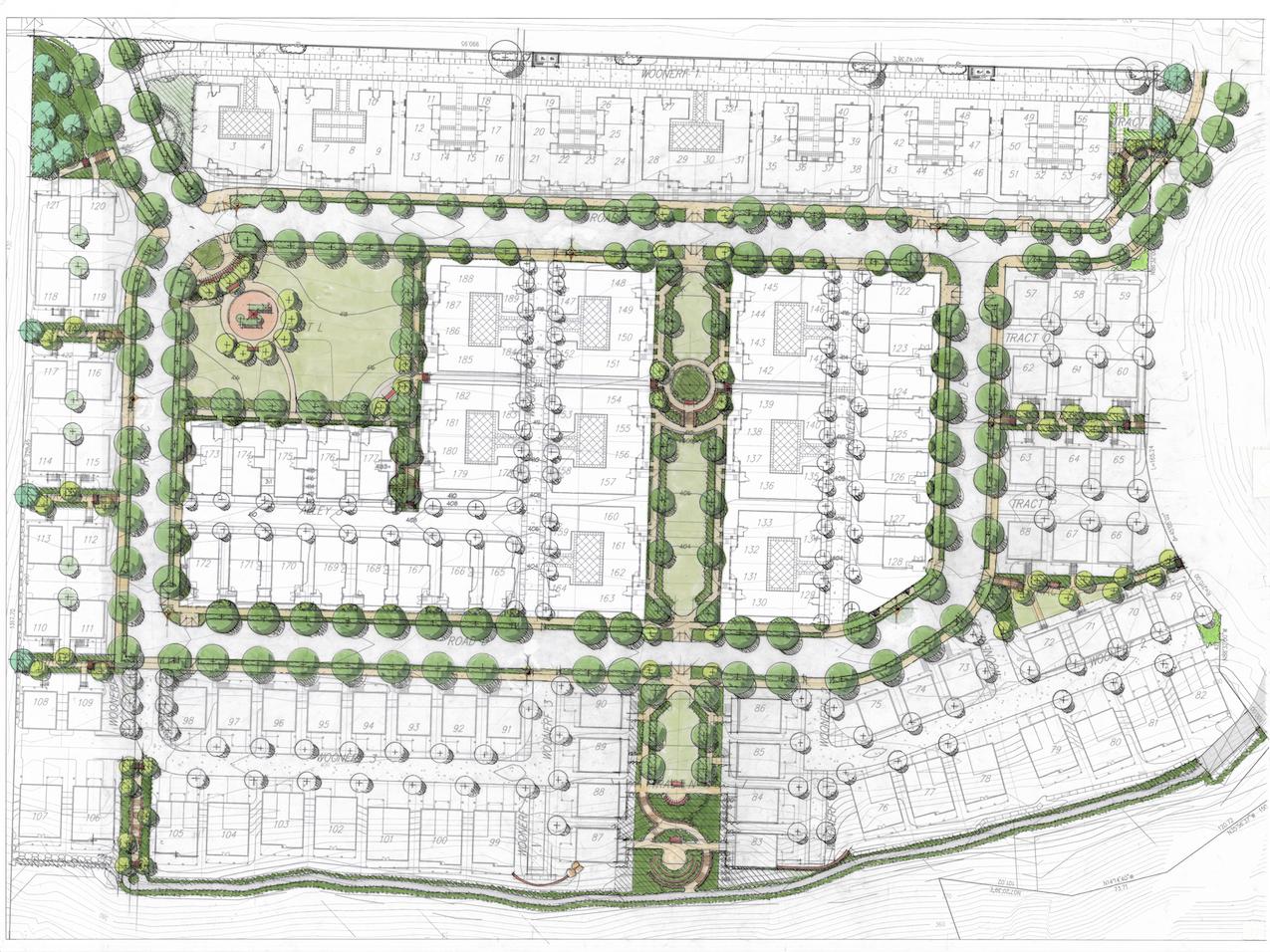 West highlands park site and landscape plan fred glick for Site plan with landscape